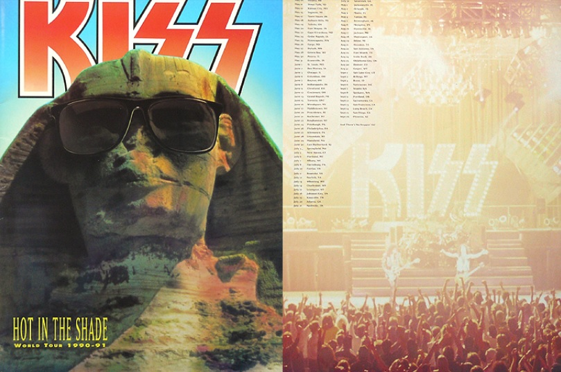Kiss Hot Of The Shade Tour Book